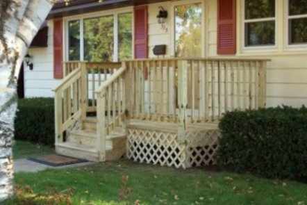 build wood deck over concrete porch diy porch a pretty porch for